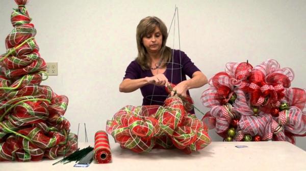 weihnachtsdeko ideen weihnachtsbäume stoff selber machen