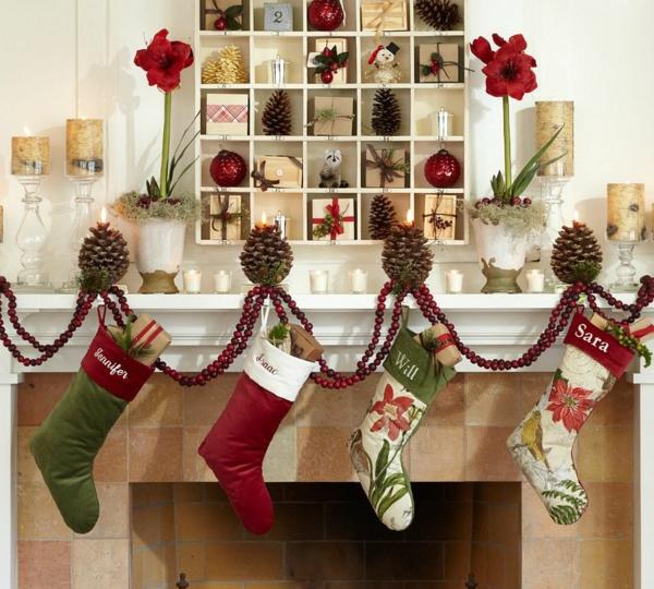 weihnachtsdekoration ideen weihnachtsdeko geschenke kamin