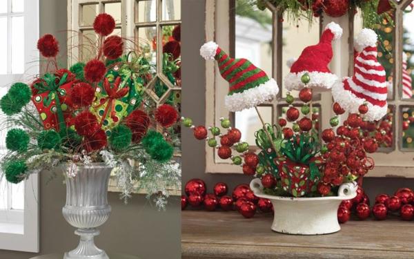 weihnachtsdeko ideen weihnachtshüte geschenke