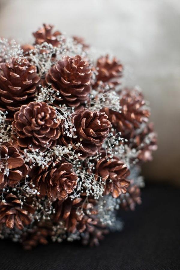 weihnachtsdekoration elegante dekoideen mit zapfen