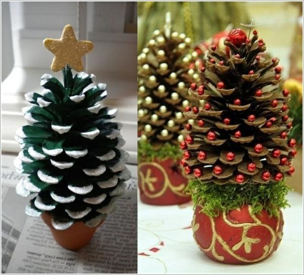 weihnachtsdekoration zapfen weihnachtsbäume