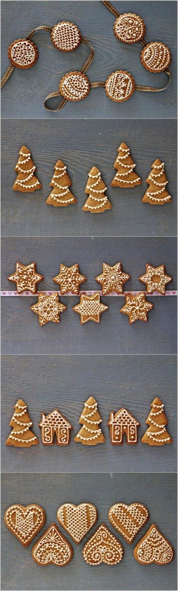 weihnachtsplätzchen einfach arangieren form dekoration