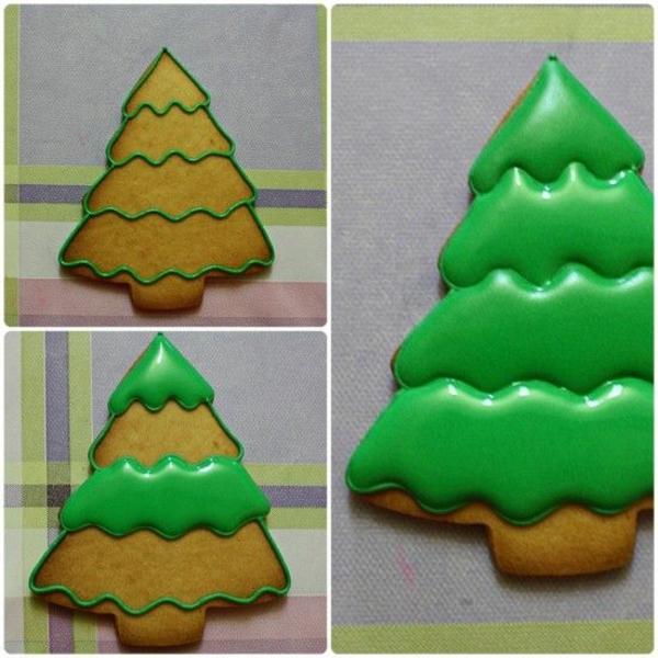 weihnachtsplätzchen einfach arangieren tanne grün
