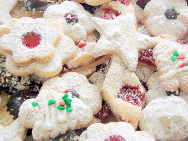 weihnachtsplätzchen puderszucker