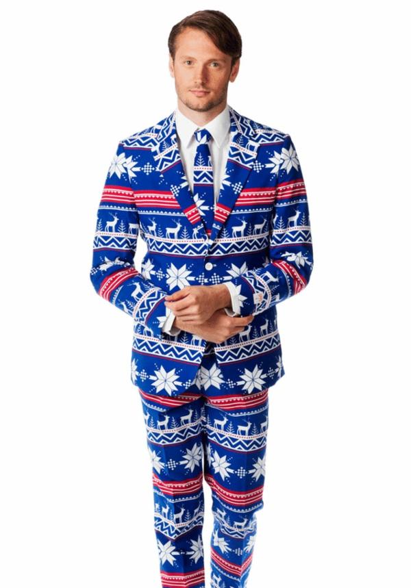 weihnachtspullover anzüge schick hirsche weiß