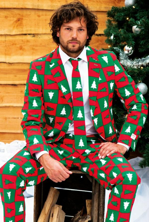 weihnachtspullover schick anzüge tannenbaum