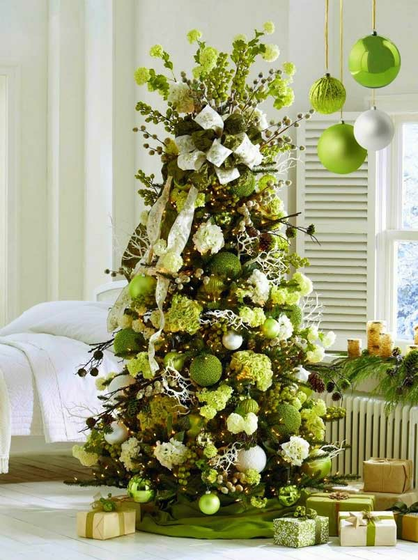 weihnachtsschmuck basteln tannenbaum schmücken grün