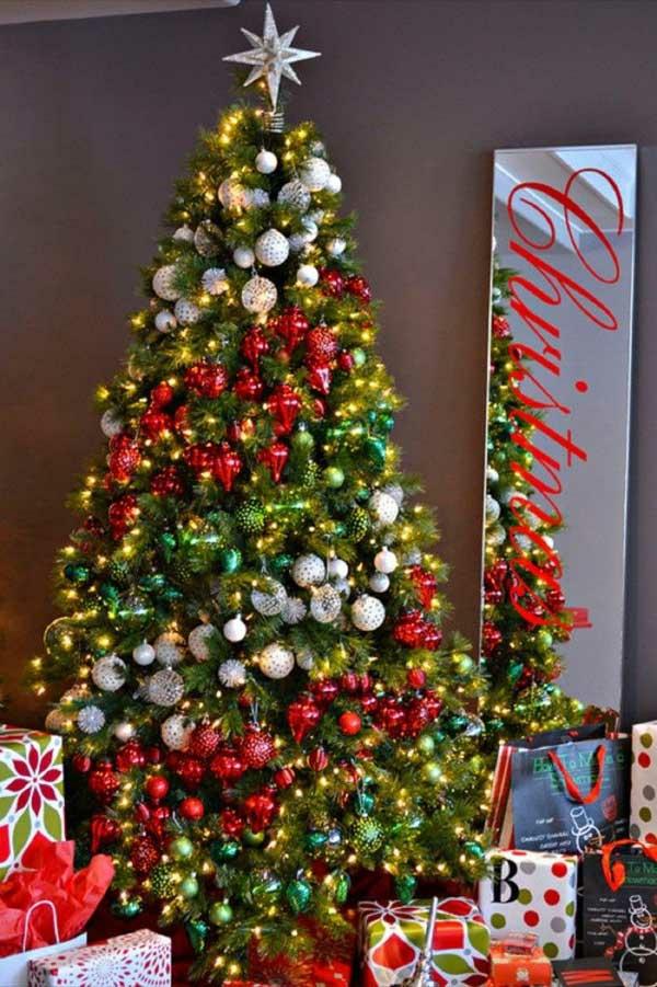 weihnachtsschmuck basteln tannenbaum schmücken lichterketten