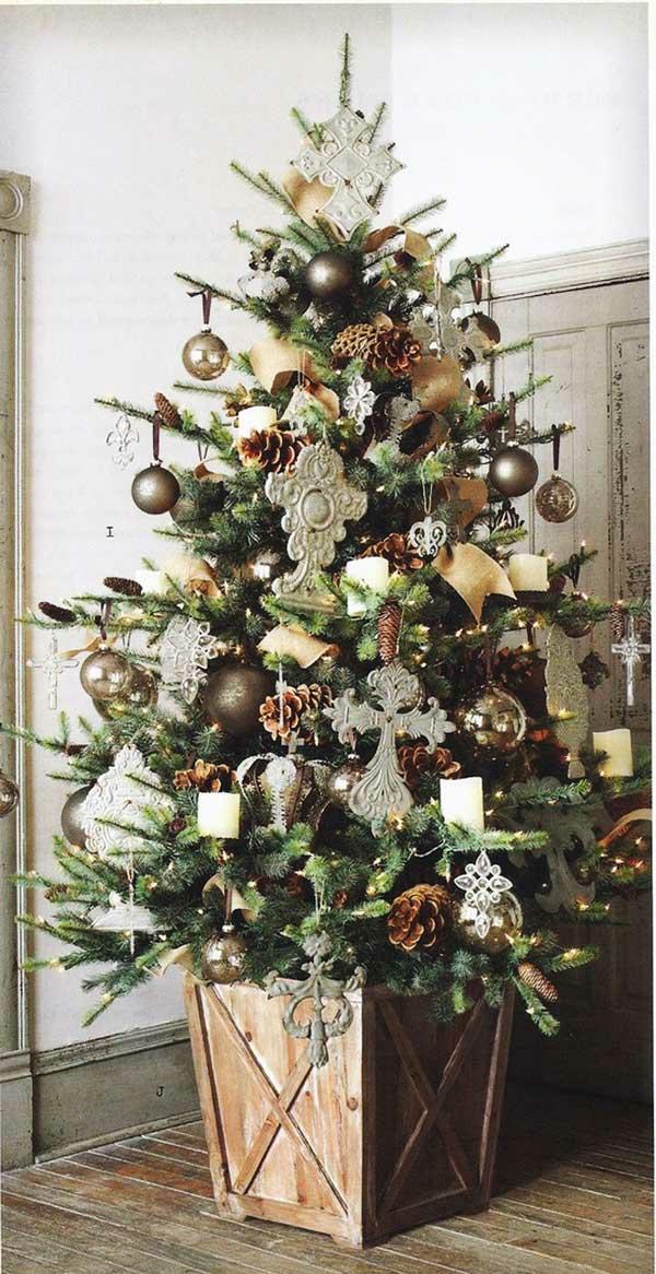 weihnachtsschmuck basteln tannenbaum schmücken retro