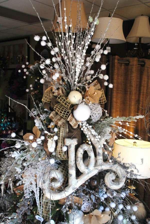 weihnachtsschmuck basteln tannenbaum schmücken rustikal