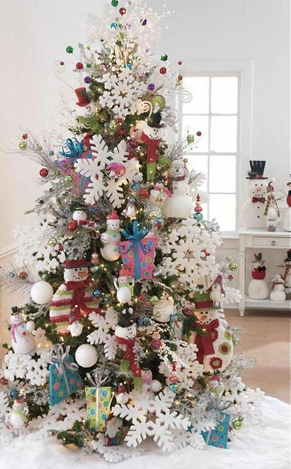 weihnachtsschmuck basteln tannenbaum schmücken schneeflocken basteln
