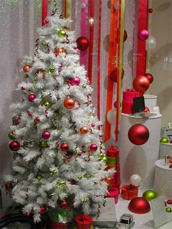 weihnachtsschmuck basteln tannenbaum schmücken weiß