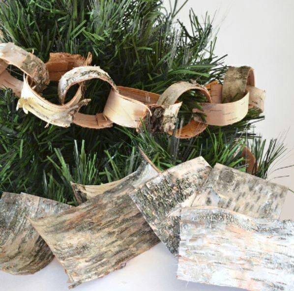 weihnachtsschmuck basteln weihnachtsbasteleien diy girlande