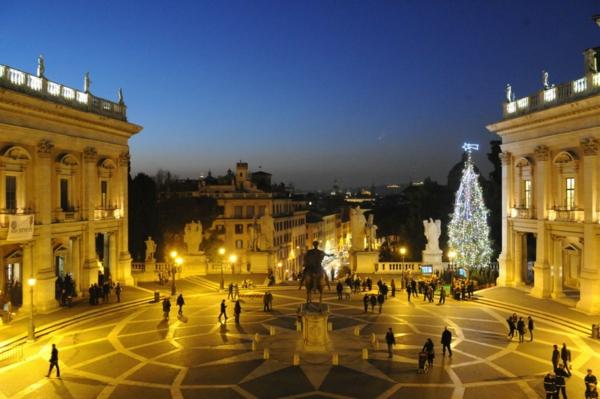 weihnachtsurlaub mit kindern rom italien piazza del Campidoglio