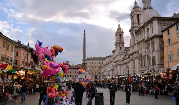 weihnachtsurlaub mit kindern rom italien weihnachtsmarkt Piazza Navona