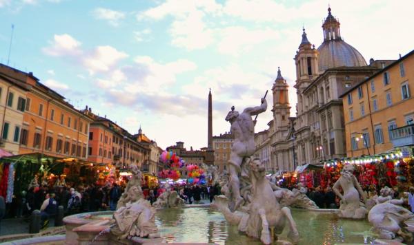 weihnachtsurlaub mit kindern rom weihnachtsmarkt Piazza Navona