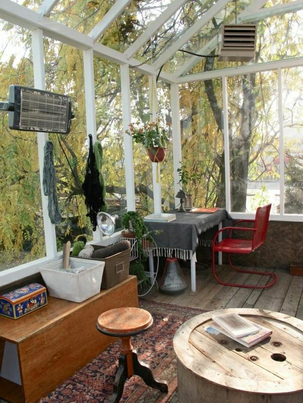 wintergarten einrichten gartengestaltung bilder terrassenüberdachung glas