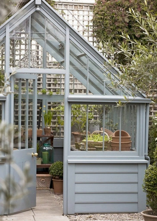 wintergarten selbstbau gartenhaus gartenzubehör aufbewahren
