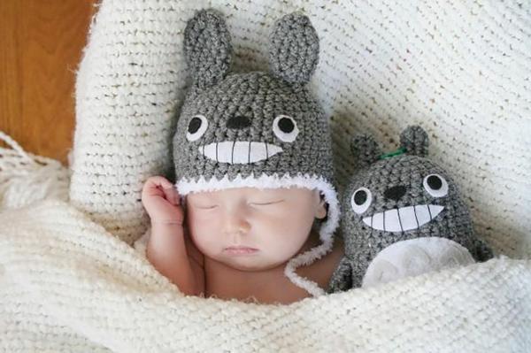 wintermützen baby totoro mütze