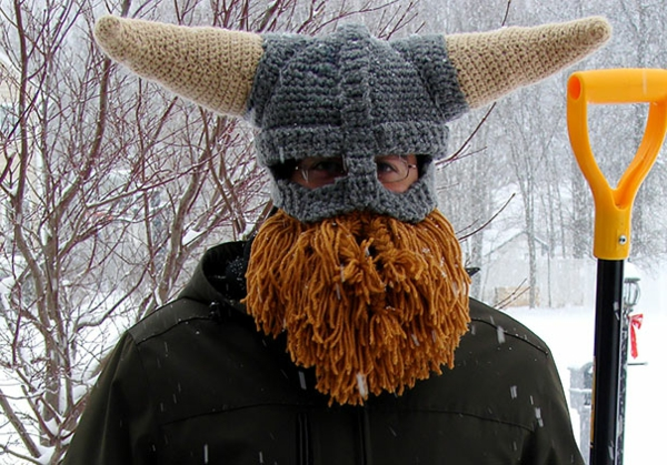 wintermützen wikinger hörner mütze