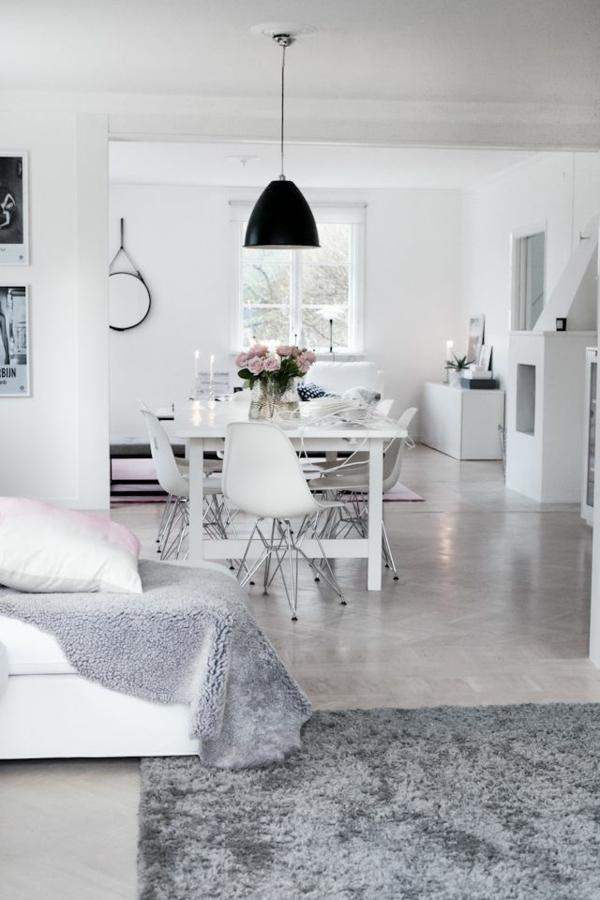wohnzimmerlampen günstig design fellteppich