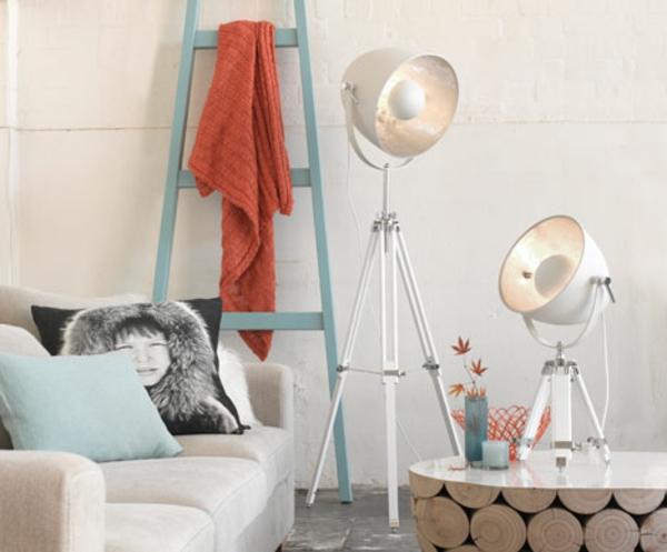 wohnzimmer tuch leiter lampen günstig design hell