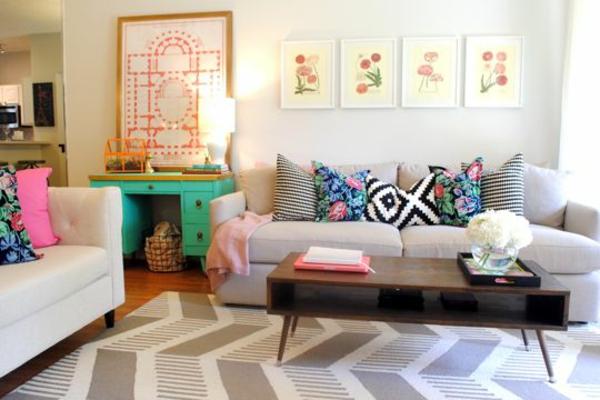 wohnzimmer texturen heimtextilien lampen günstig design sofa kissen