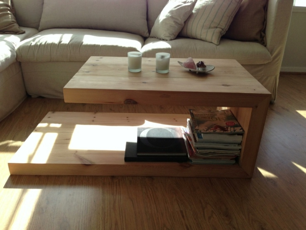 Couchtisch Massivholz - Modelle von Wohnzimmertischen aus Holz