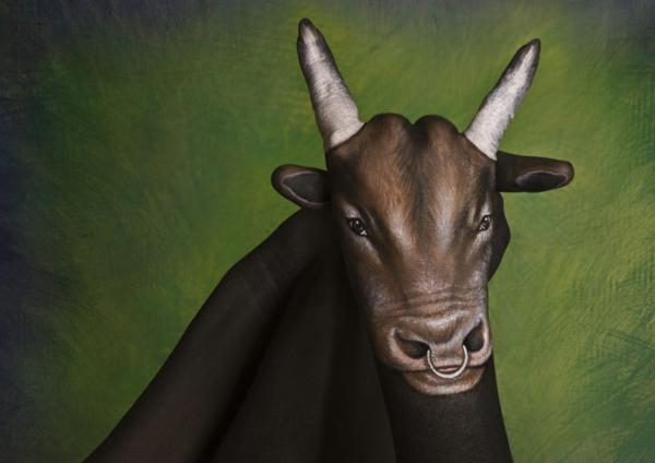 zeitgenössische kunst büffel