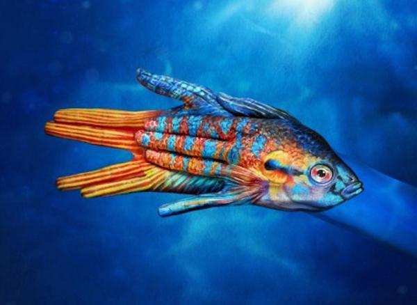 moderne kunst fisch
