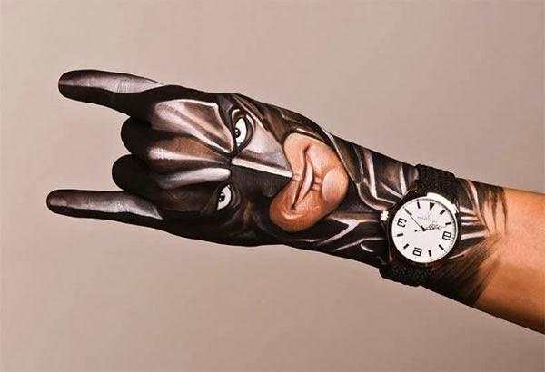 zeitgenössische kunst hand batman