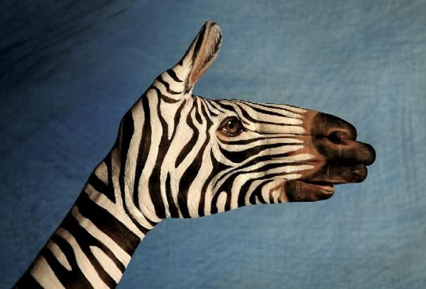 moderne kunst zebra