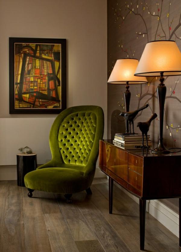 Artdeco Möbel deco stil grün sessel jpg