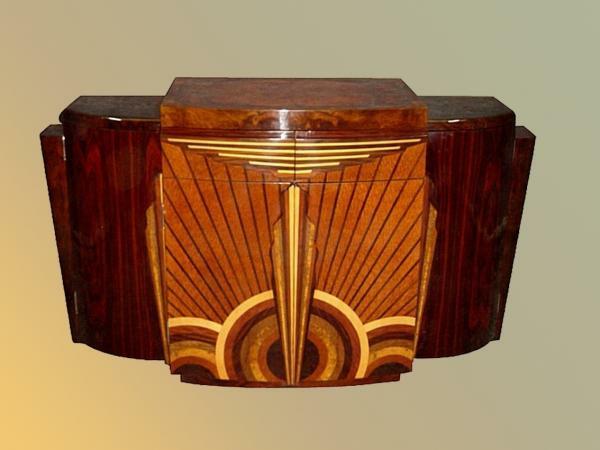 Art Deco antike möbelstücke Stil ornamente
