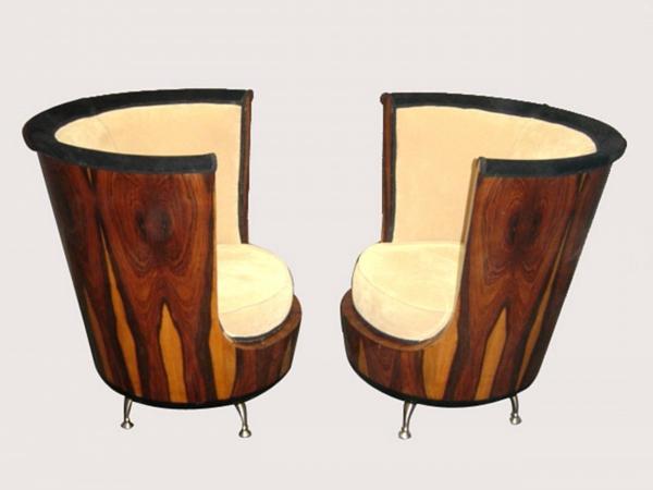 Art Deco sessel holz textur rücklehnen