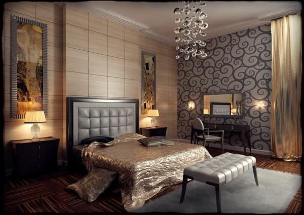 Art Deco möbel seide bettwäsche bett