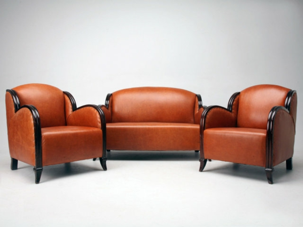 Art Deco design ideen sofa leder