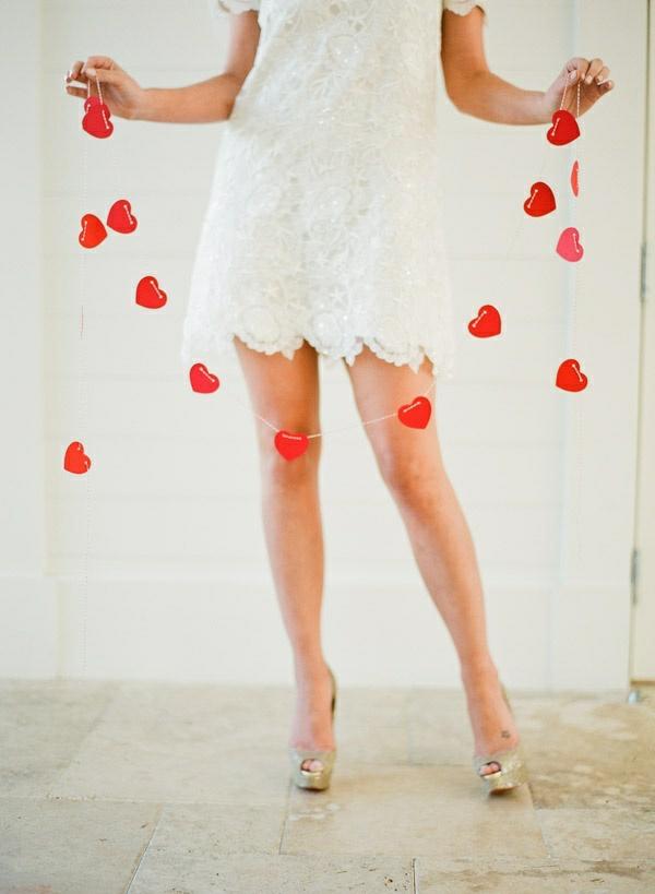 Basteln girlanden Valentinstag kleid ketten
