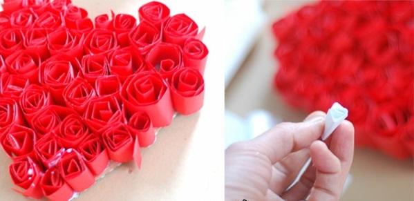 Basteln ideen Valentinstag rot papier