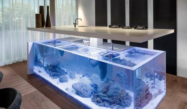 Brillante wasser Aquarium Dekoration küchenblock