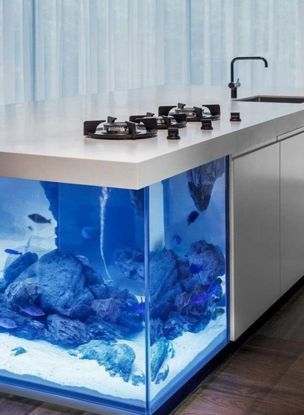 Brillante Aquarium Dekoration küchenblock