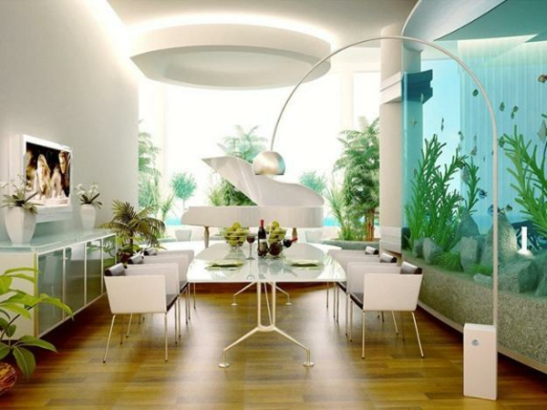 Aquarium Dekoration stehlampe