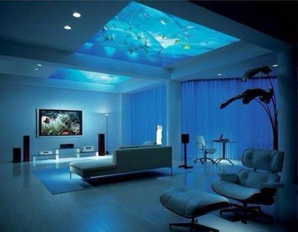 Brillante Aquarium Dekoration blau atmosphäre zimmerdecke