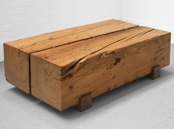 Couchtisch aus Holz  moderne Wohnzimmertisc