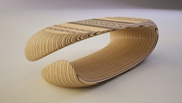 Couchtisch aus Holz textur designer wohnzimmertisch