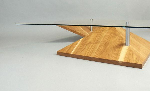 Couchtisch Holz designer wohnzimmertisch  tischplatte