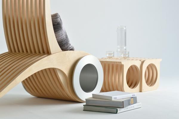 Holzmöbel design  EXOCET Designer Stuhl von Stéphane Leathead
