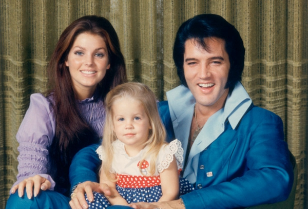 Elvis Presley, Priscilla and Lisa-Marie