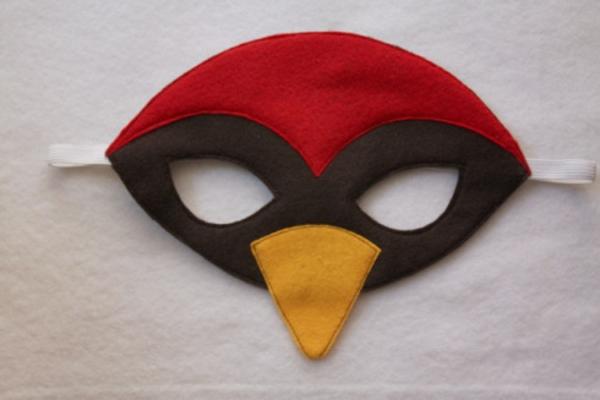 Faschingsmasken basteln angry birds