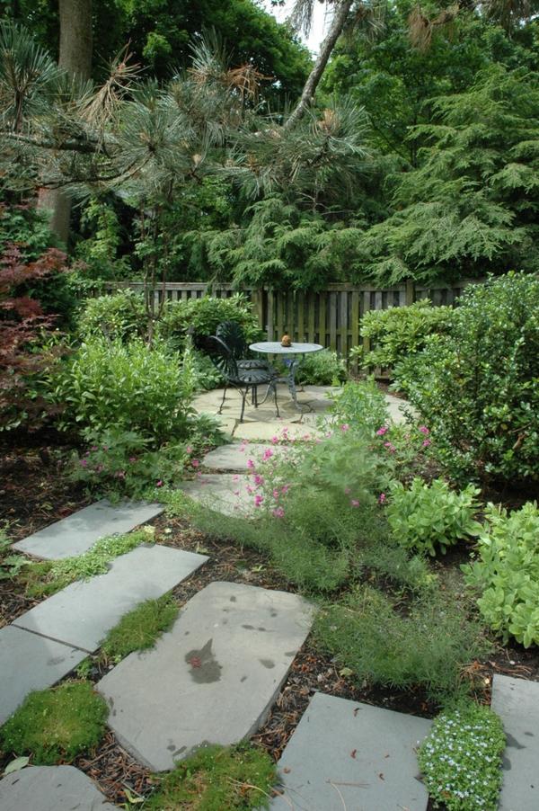 Gartenzäune Holz ideen erholungsecke